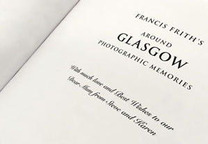 A personalised inscription on book title page